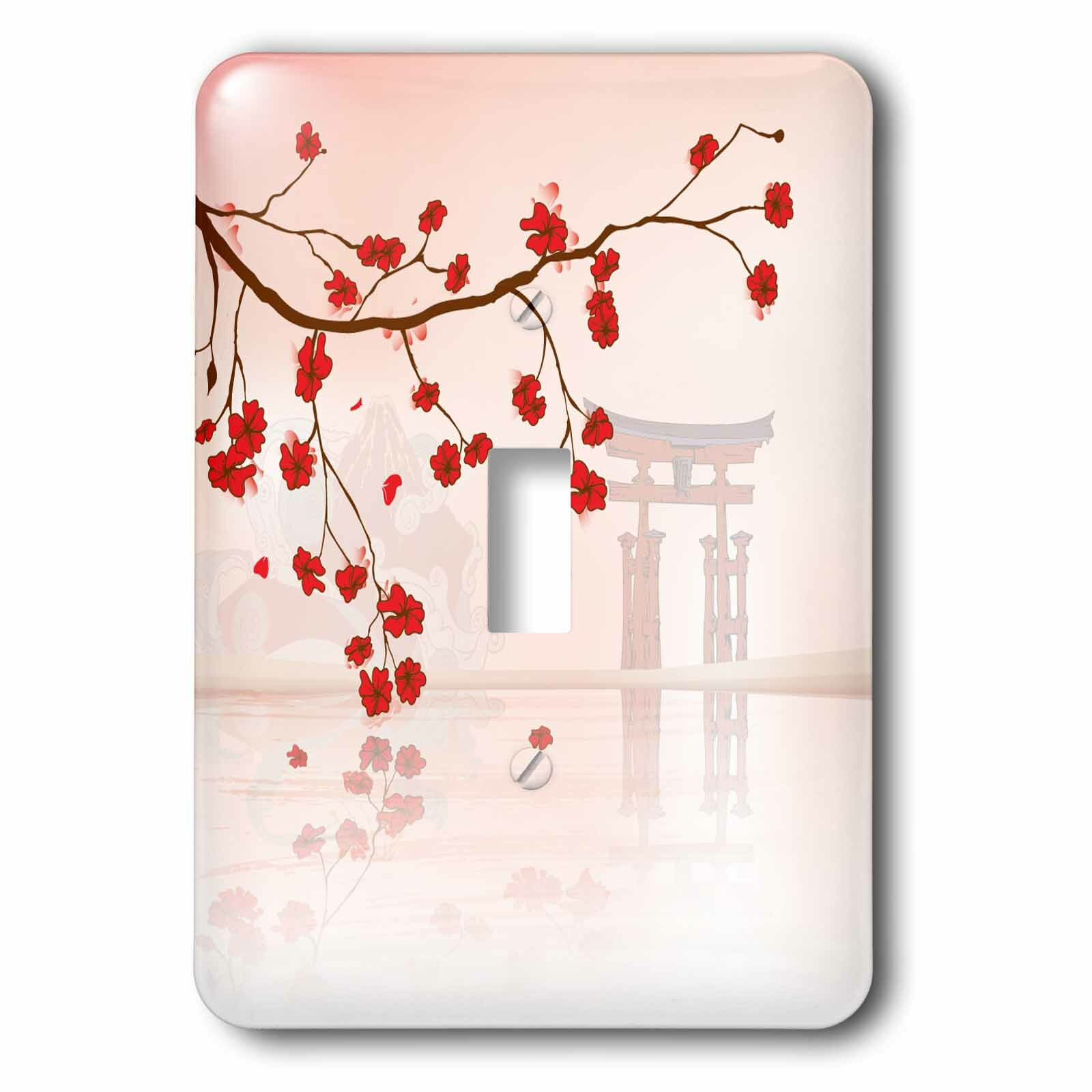 3drose Sakura Cherry Blossoms 1 Gang Toggle Light Switch Wall Plate Wayfair