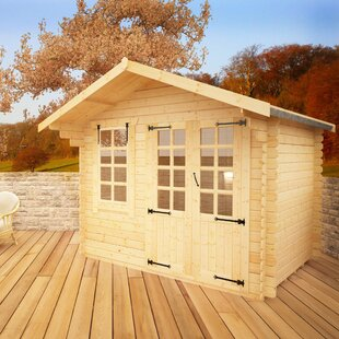 Alexandria 10 X 6 Ft. Tongue And Groove Log Cabin By Tiger Sheds