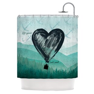 Heart Set Sail Shower Curtain