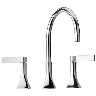 Jewel Faucets J17 Bath Series Two Blade Handle Widespread Bathroom Faucet with Goose Neck Spout