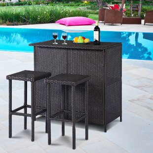 Reyer 3 Piece Pub Table Set Winston Porter