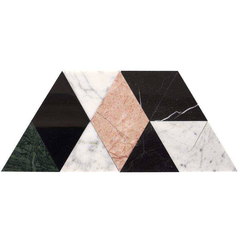 Ivy Hill Tile Prisma 8 X 14 Marble Mosaic Tile Wayfair