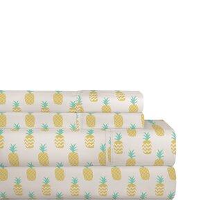 Bay Isle Home Stradford Pineapple 200 Thread Count 100% Cotton Sheet Set