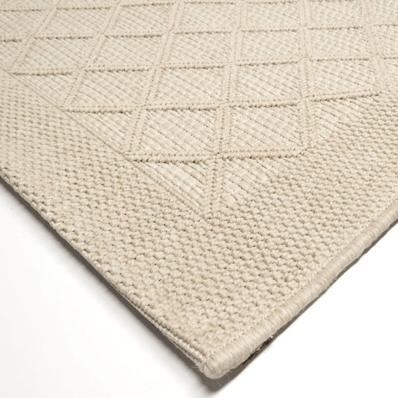 Three Posts Acton Ivory Indoor/Outdoor Area Rug & Reviews | Wayfair
