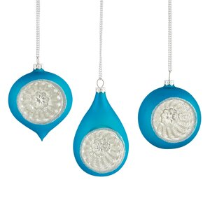 Reflector Glass Ornament Set (Set of 3)