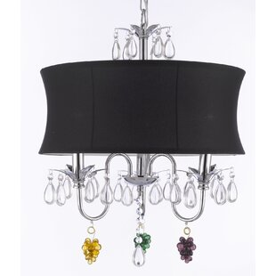 Rosdorf Park Dacia 3-Light Shaded Chandelier
