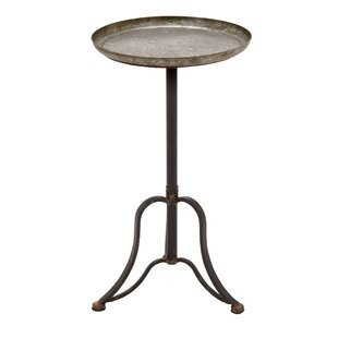 Laurel Foundry Modern Farmhouse Pearl Metal End Table