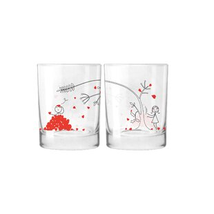 Love You Madly Couple 12 oz. Drinking Glass (Set of 2)