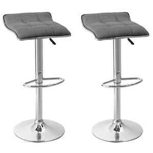 Caseville Adjustable Height Swivel Bar Stool (Set of 2) by Wade Logan