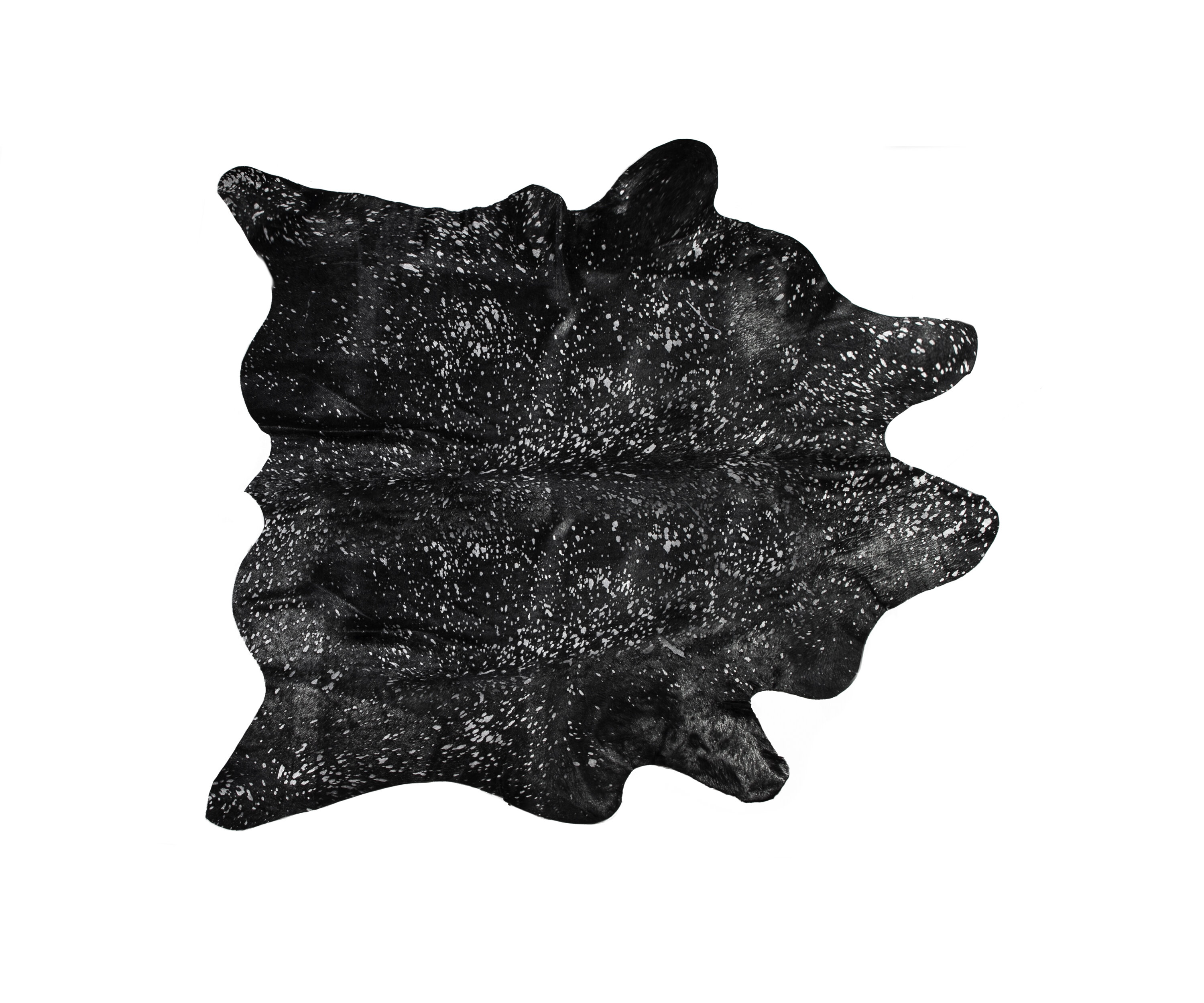 Brayden Studio Houchin Animal Print Handmade Cowhide Black Area Rug Wayfair