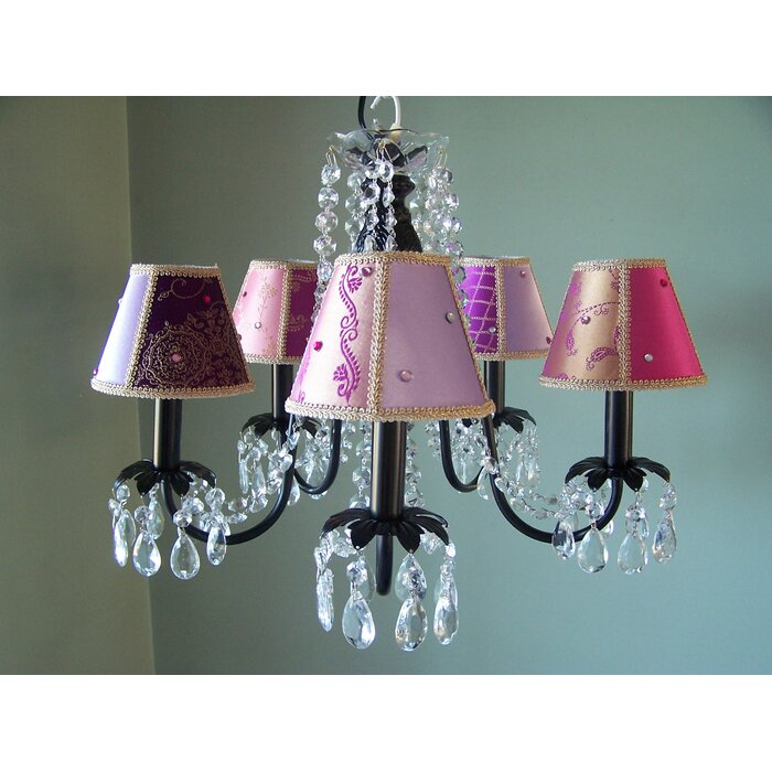 Bohemian Baby 5 Light Shaded Chandelier