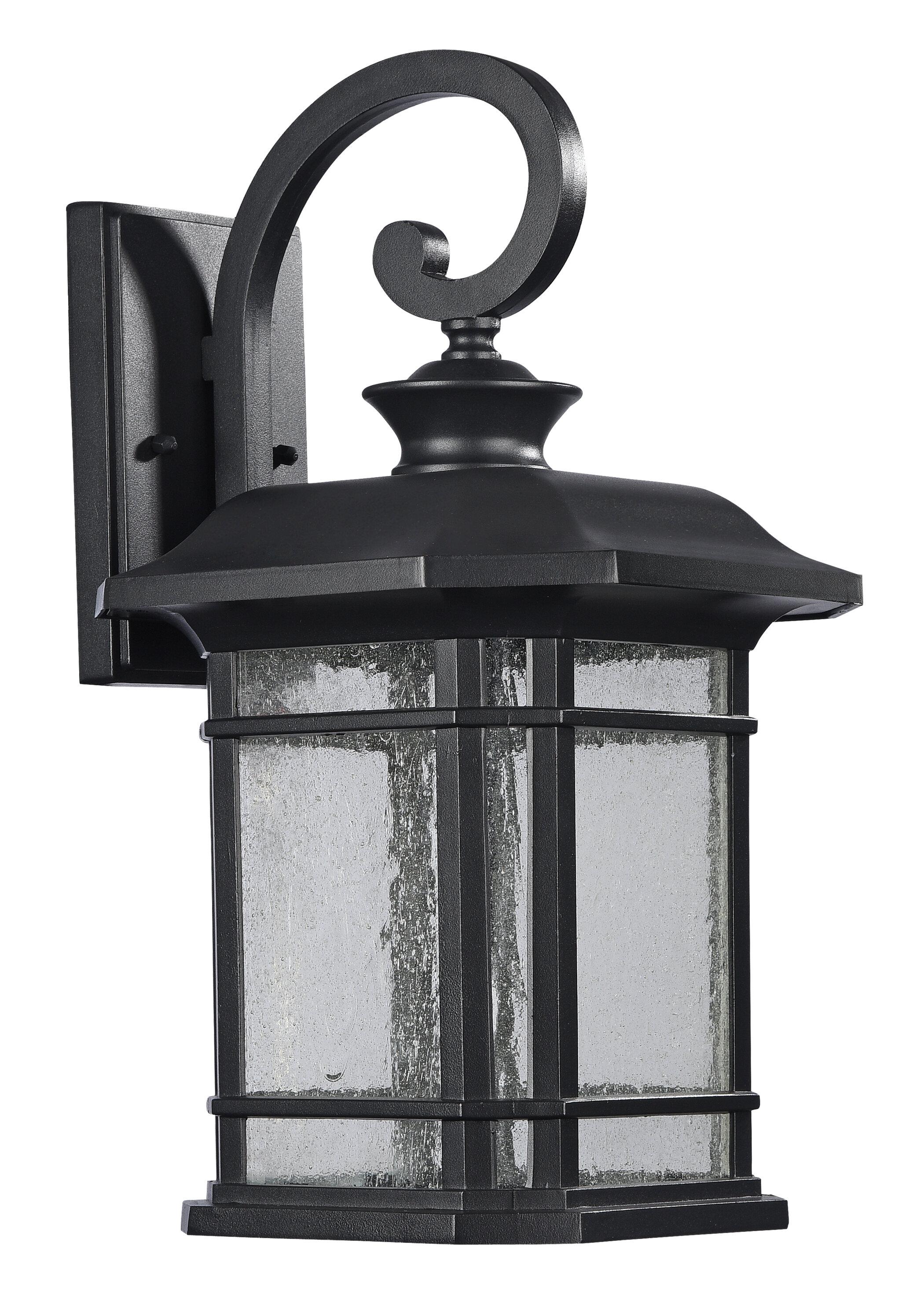 Darby Home Co Coeymans Black 1 Bulb Outdoor Wall Lantern Wayfair