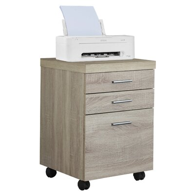 Comm Office Barnaton 3-Drawer Mobile Lateral File Color: Natural