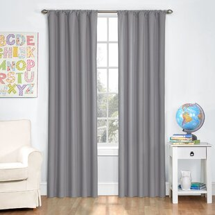Dasher Solid Blackout Thermal Rod Pocket Single Curtain Panel by Three Posts