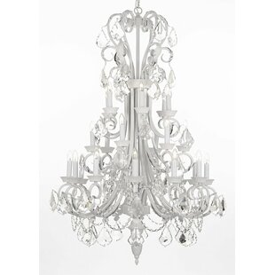 Rosdorf Park Gisele Wrought Iron 24-Light Chandelier