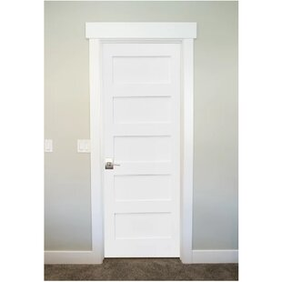 5 panel interior doors youll love wayfair primed shaker 5 panel solid manufactured wood panelled mdf prehung interior door planetlyrics Image collections