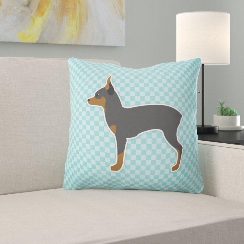 East Urban Home Toy Fox Terrier Indoor Outdoor Throw Pillow Wayfair