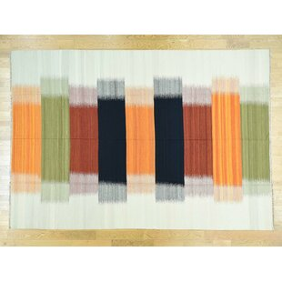 Order One-of-a-Kind Bessey Dazzling Handmade Kilim Wool Area Rug By Isabelline