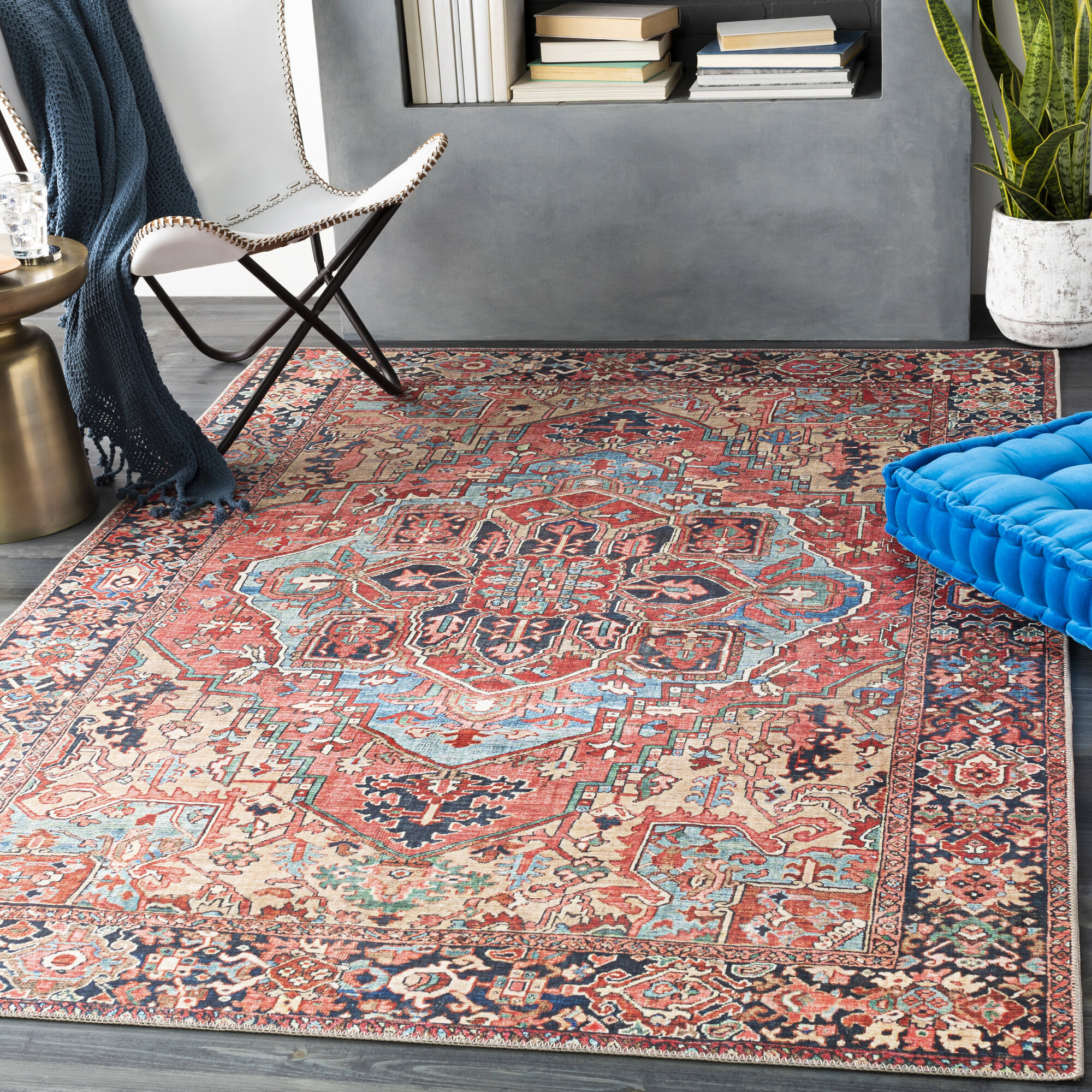 Wayfair Blue Red Area Rugs You Ll Love In 2021