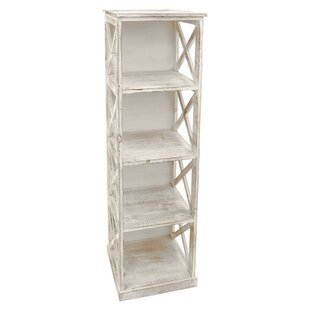 Howton Wooden Distressed Standard Bookcase by August Grove