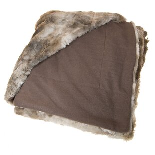 Soumah Coyote Fleece Throw Blanket