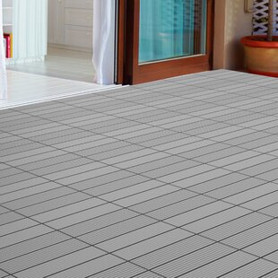 Slat Patio 12 X 12 Composite Interlocking Deck Tile In Dark Gray Set Of 6