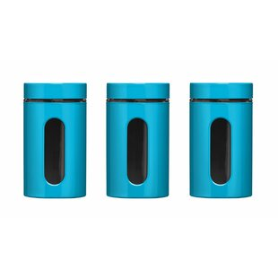 ... Save To Idea Board · Image Of Ceramic Kitchen Canisters Uk · Blue ...
