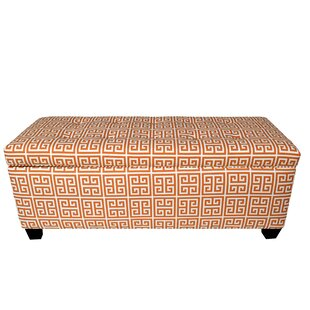Red Barrel Studio Wainscott 10 Button Upholstered Storage Bench