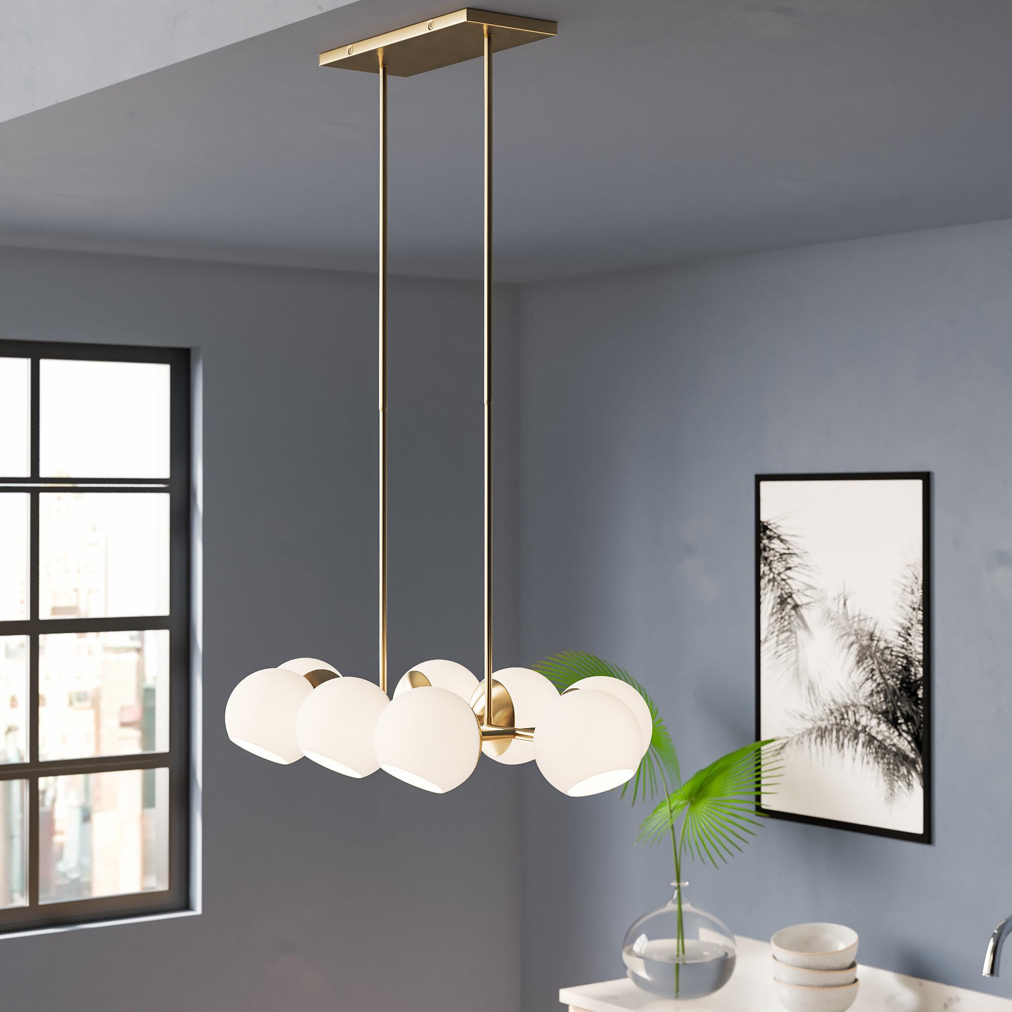 the best attitude faf1f c477c Modern Rustic Interiors Ashley 8-Light Kitchen Island Linear ...