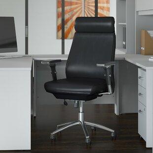 Bush Business Furniture Studio C High Back Ergonomic Genuine Leather Executive Chair