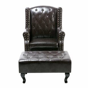 Darby Home Co Noran Upholstered Arm Chair and Ottoman