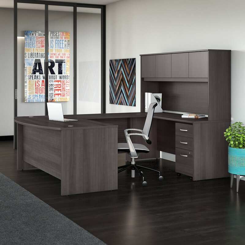 Bush Business Furniture Studio C 5 Piece U-Shaped Desk Office ...