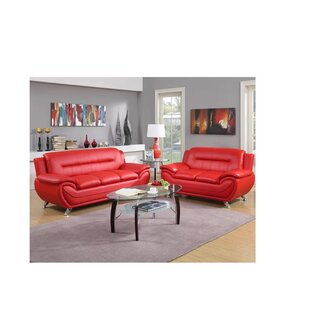 Black & Red Living Room Sets You\'ll Love | Wayfair