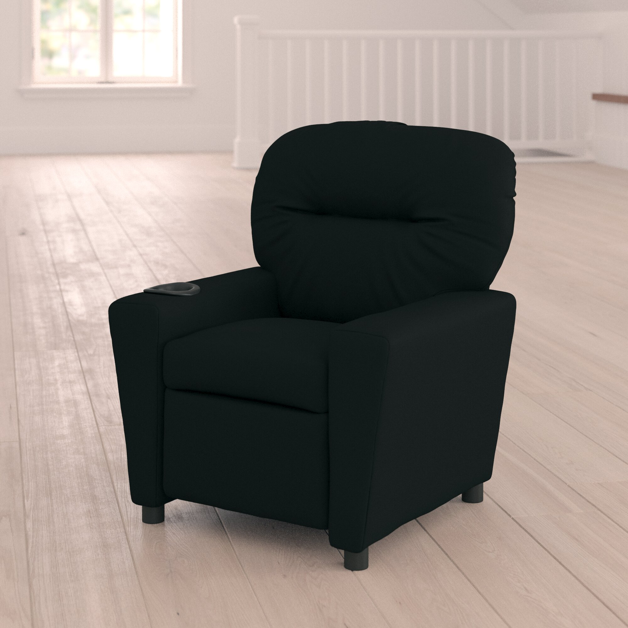 Blevins Kids Recliner and Ottoman with Cup Holder