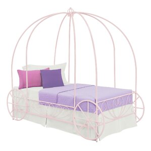 Brandy Twin Canopy Bed by Zoomie Kids
