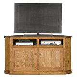 Didier Solid Wood Corner TV Stand for TVs up to 65 by World Menagerie