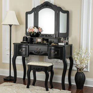 Benson Vanity Set with Mirror by Astoria Grand