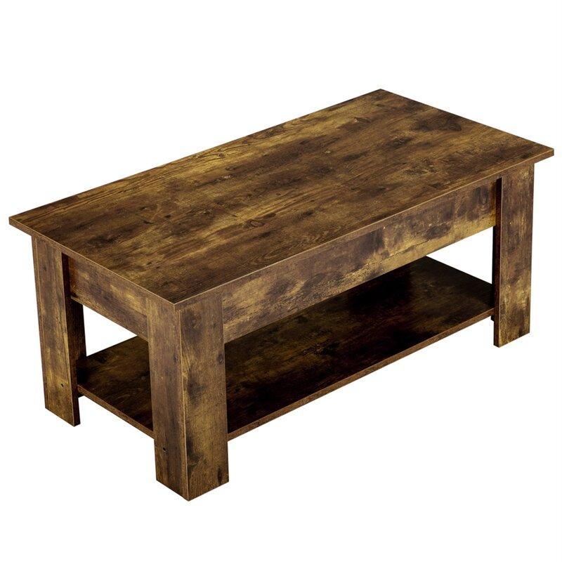Union Rustic Fincher Lift Top Coffee Table Wayfair