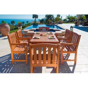 Vifah English Garden 7 Piece Dining Set