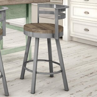Talia Bar & Counter Swivel Stool by 17 Stories