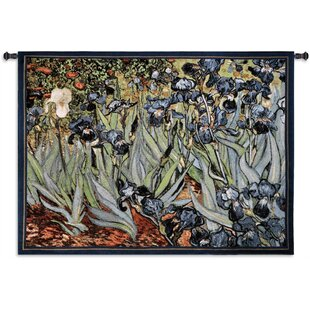 Fine Van Goghs Irises By Acorn Studios Tapestry Pabps2019 Chair Design Images Pabps2019Com