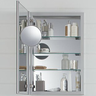 Verdera Aluminum Medicine Cabinet with Adjustable Flip Out Mirror, 20 x 30 by Kohler