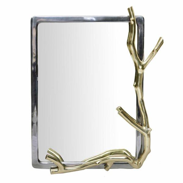 "A&B Home 30"" Gold And Black Rectangular Wall Mirror ..."