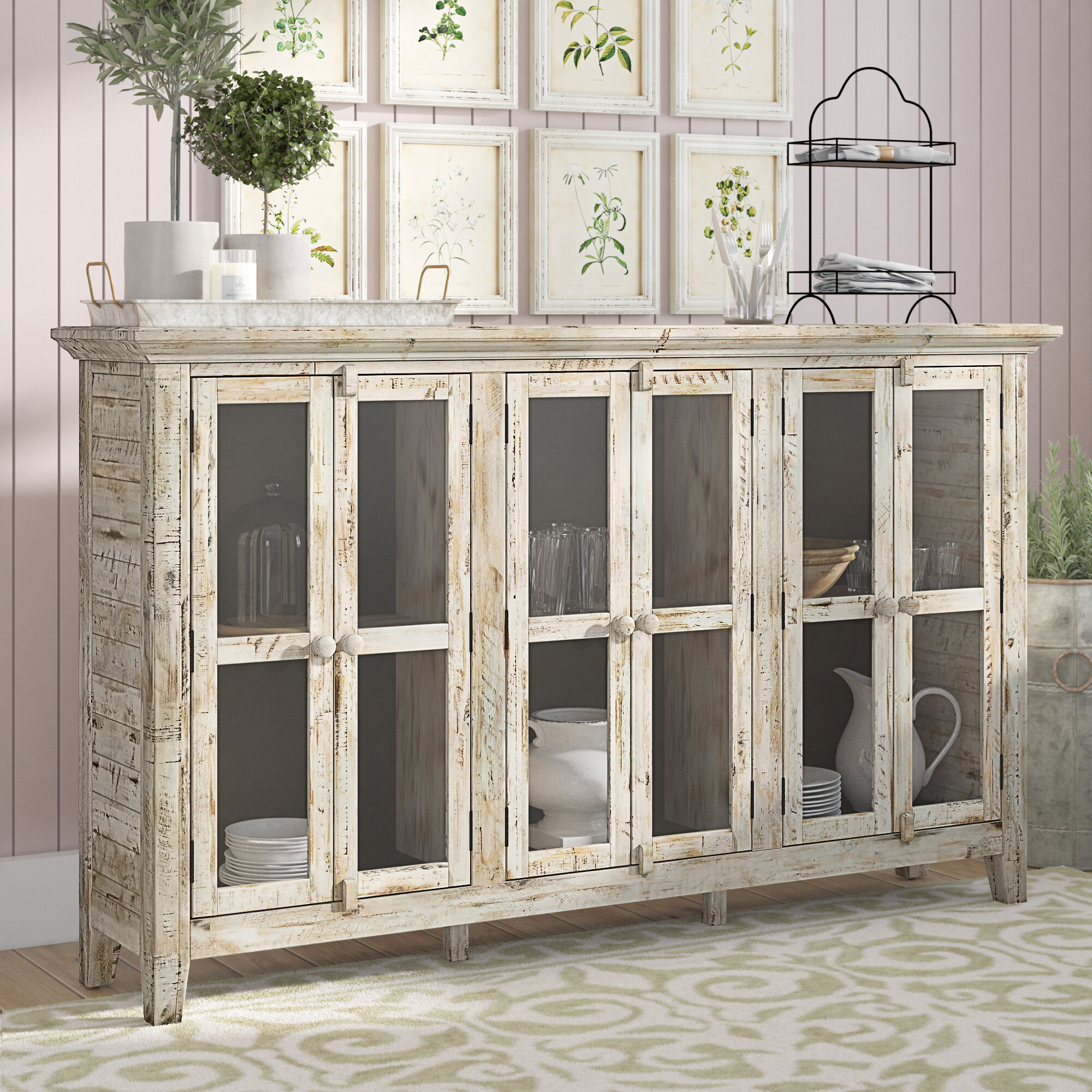 Lark Manor Eau Claire 6 Door Accent Cabinet