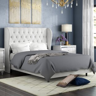Alcantara Diamond Upholstered Panel Bed by Willa Arlo Interiors