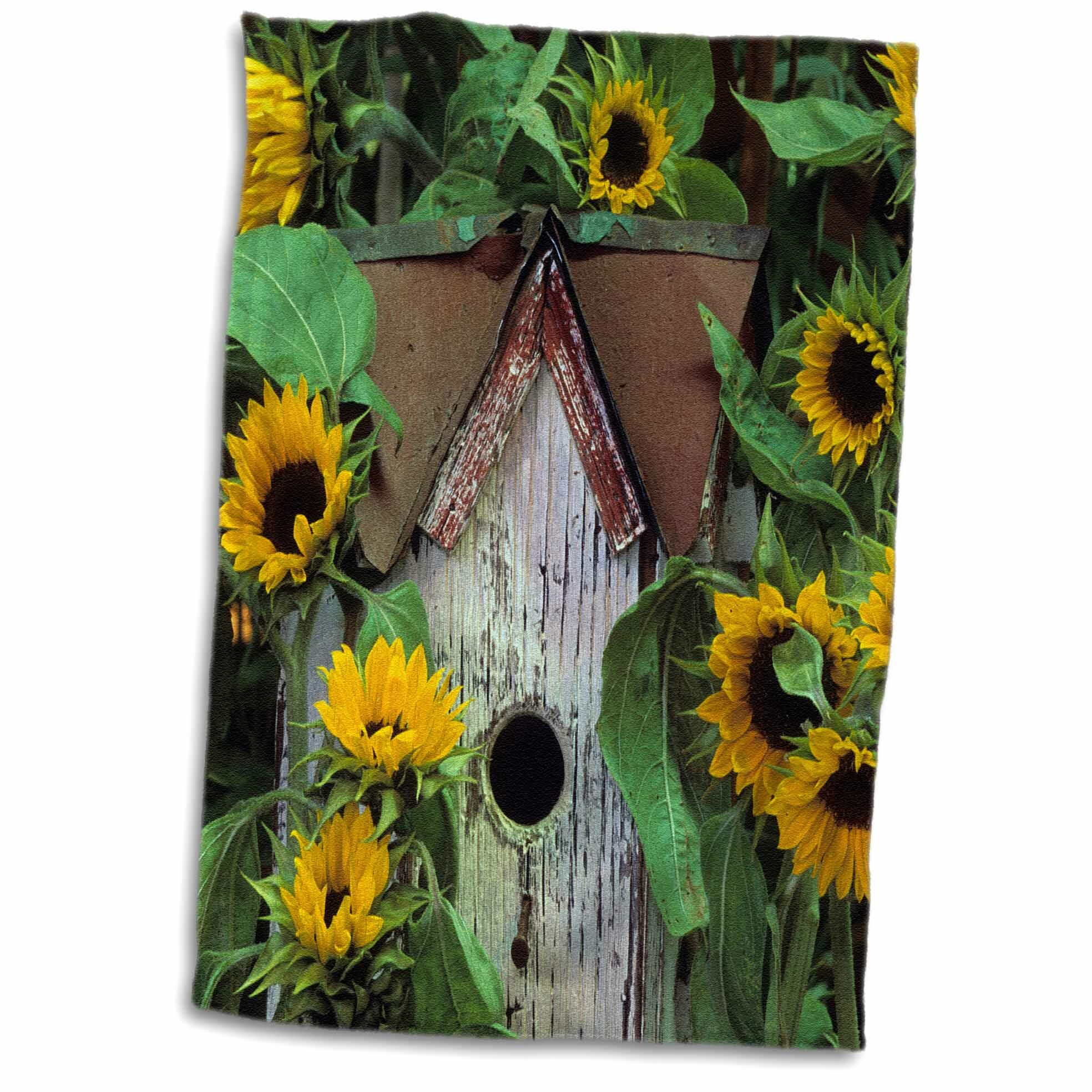 East Urban Home Gareth Usa Pennsylvania Birdhouse And Garden Sunflowers Hand Towel Wayfair