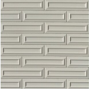 Portofino 3 X 12 Beveled Ceramic Subway Tile In Gray