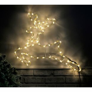 Reindeer 24 Light LED Rope Lighted Display By The Seasonal Aisle
