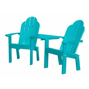 Laurel Foundry Modern Farmhouse Sawyerville 2 Piece Plastic Adirondack Chair Set