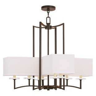 Latitude Run Amenia 8-Light Shaded Chandelier